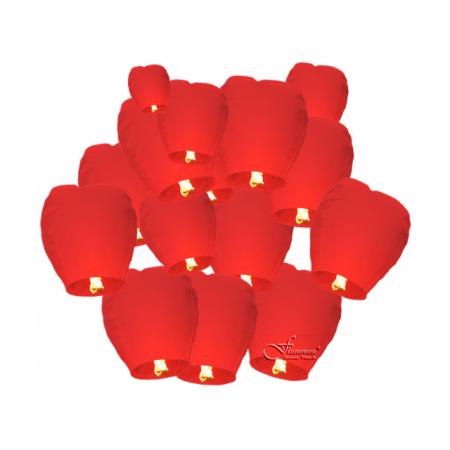 Himmelslaterne Flammea Rot 15er Set