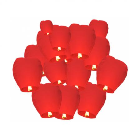 Himmelslaterne Flammea Rot 30er Set
