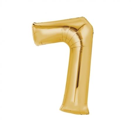 Zahlenballon Zahl 7 Gold