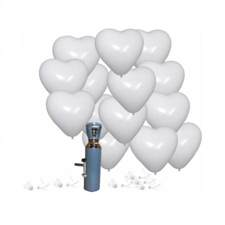 Ballonset Herz weiss