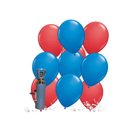 Ballonset rot-blau