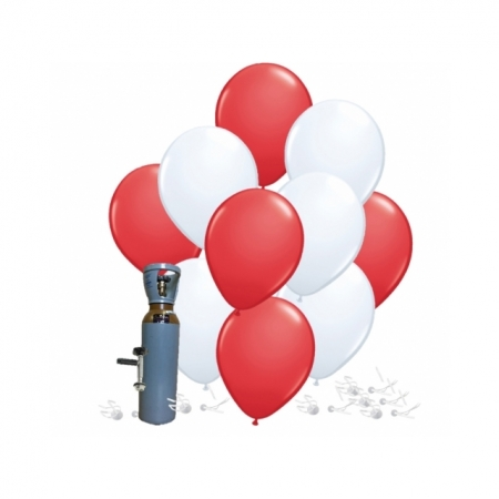 Ballonset rot-weiss