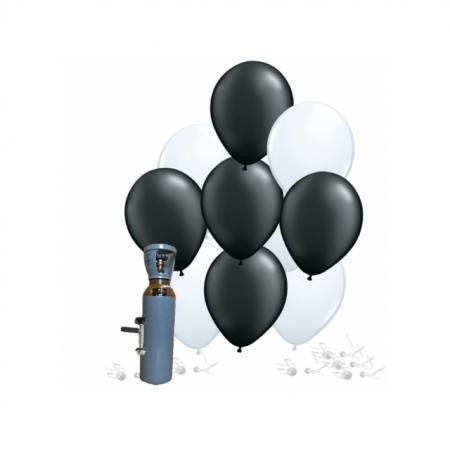 Ballonset schwarz-weiss