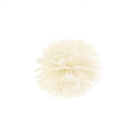 Pompoms crème 25cm