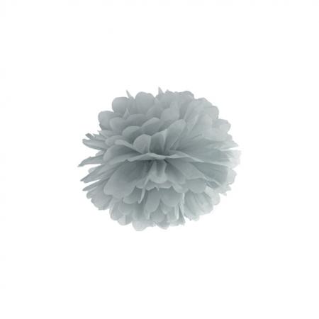 Pompoms grau 25cm
