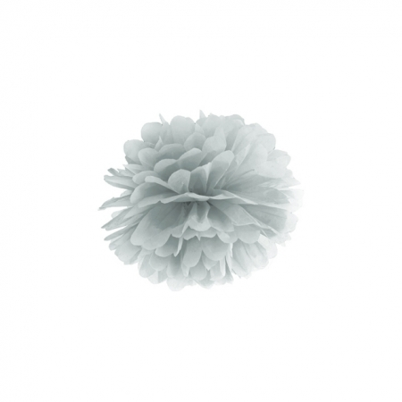 Pompoms silber 25cm