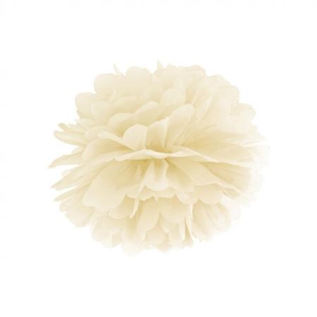 Pompom crème 35 cm