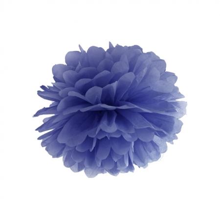 Pompom Marineblau 35 cm