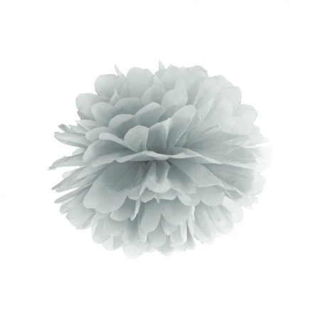 Pompoms silber 35cm