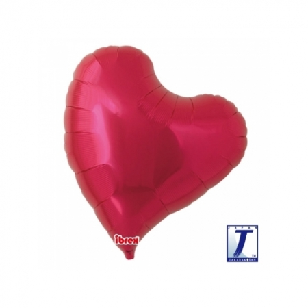 Herzballon Sweet-Heart metallic rot