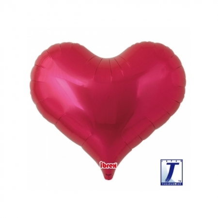 Herzballon Jelly Heart metallic rot