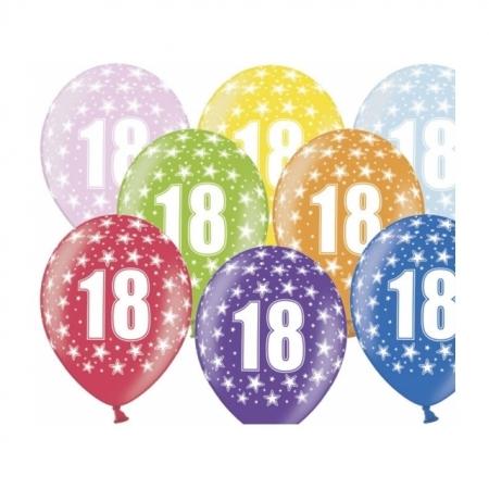 Ballons 18. Geburtstag Metallic Bunt
