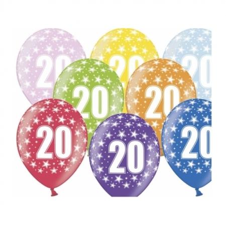 Ballons 30cm Metallic-Mix 20. Geburtstag