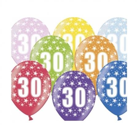 Ballons 30cm Metallic-Mix 30. Geburtstag