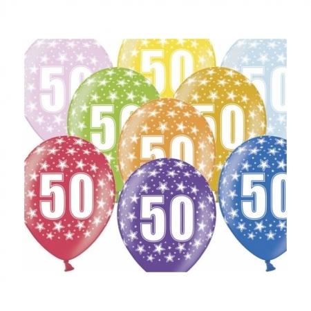 Ballons 30cm Metallic-Mix 50. Geburtstag