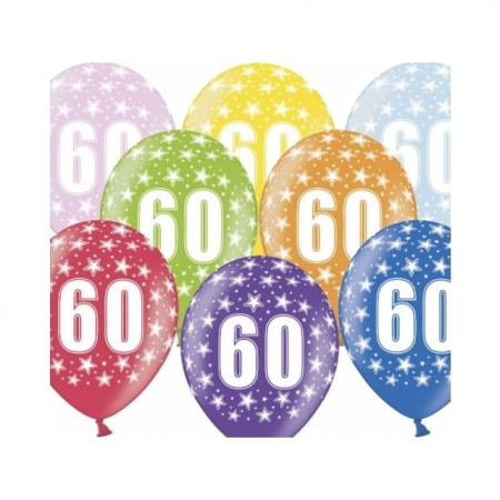 Ballons 30cm Metallic-Mix 60. Geburtstag