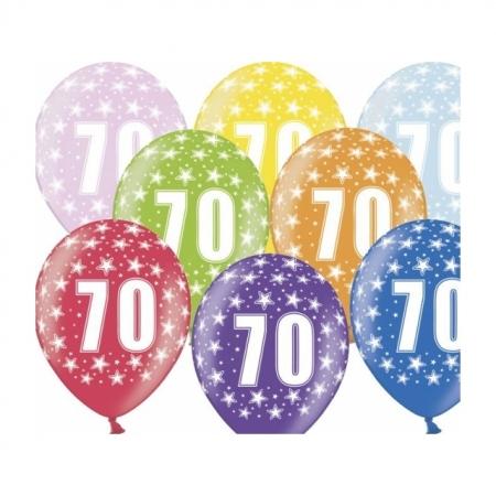 Ballons 30cm Metallic-Mix 70. Geburtstag