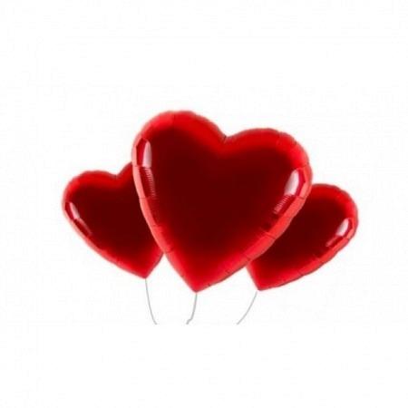 Valentinstag Jumbo Ballonbouquet 3er - heliumgefüllt