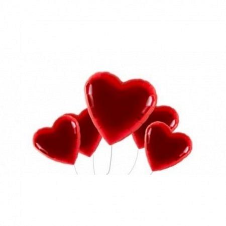 Valentinstag Jumbo Ballonbouquet 5er - heliumgefüllt