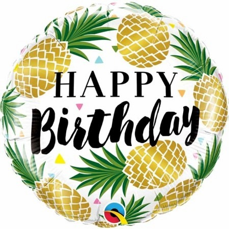 Ballon Happy Birthday Ananas 46cm