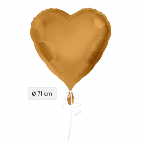 Ballon Herz Gold 71cm