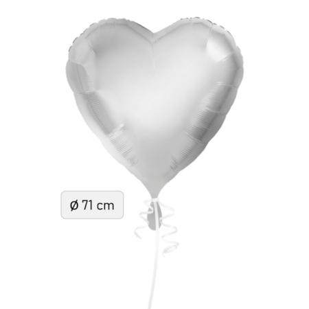 Ballon Herz silber 71cm