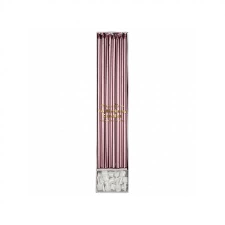Kerzen lang metallic pink
