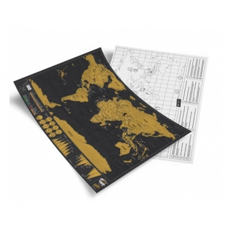 Travel Scratch Map - Reisekarte DELUXE