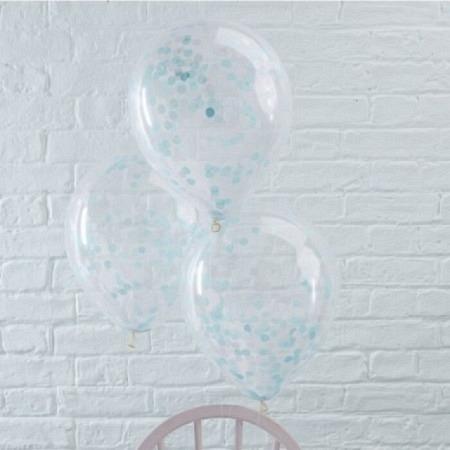 Konfetti Ballon - Blau