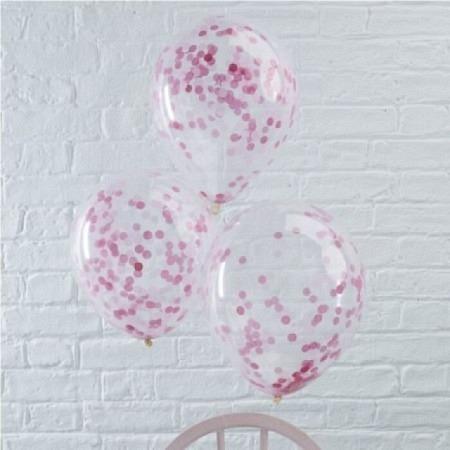 Konfetti Ballon - Pink