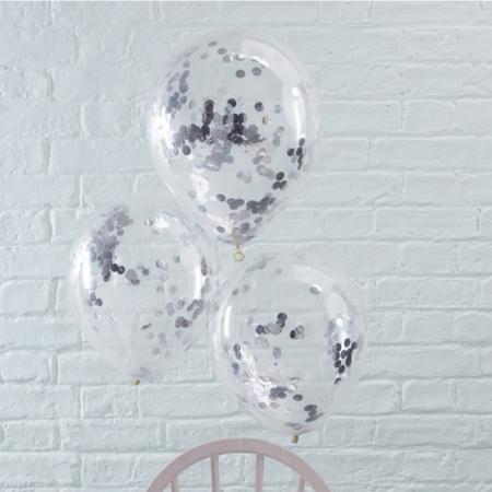 Konfetti Ballon - Silber