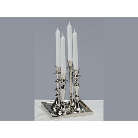 Kerzenleuchter Opus 5 teilig Höhe 24cm silber