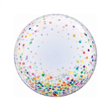Konfetti Ballon Bubble kunterbunt 61 cm