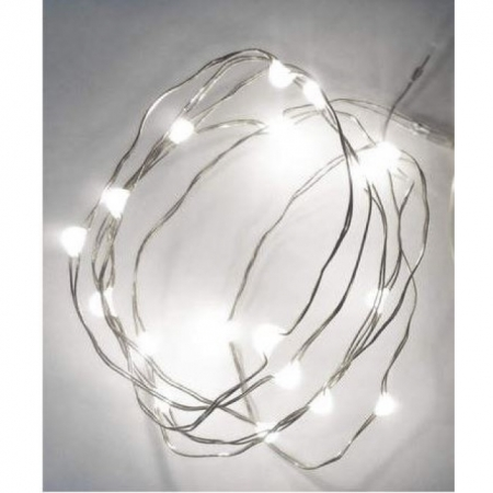 LED Ballonband 3 Meter mit 30 LED Warmweiss