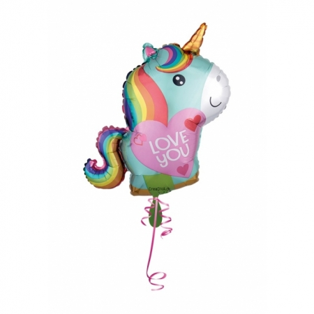 Einhorn Ballon I love you 50 cm