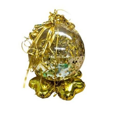 Crea Ballonkugel Midi Gold Konfetti