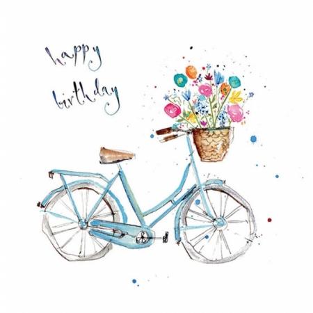 Glückwunschkarte Happy Birthday Velo