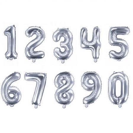 Ballon Zahl 18 Silber XXL 86cm ungefüllt