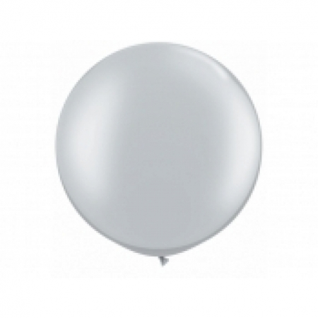 Riesenballon Silber 90 cm