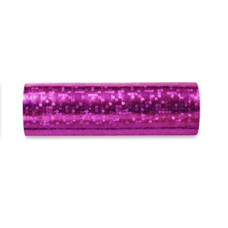 Luftschlange Pink Holo glänzend 5 Stück