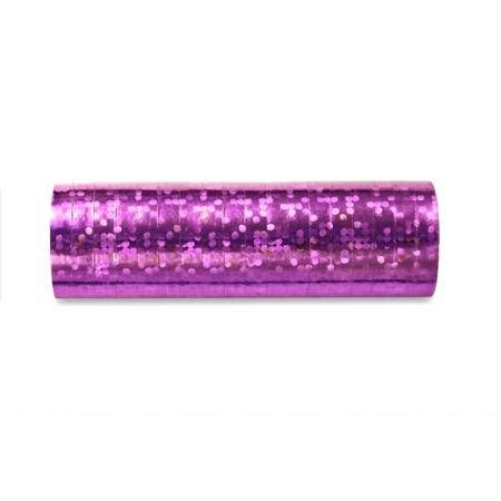 Luftschlange Hell-Pink Holo glänzend 5 Stück