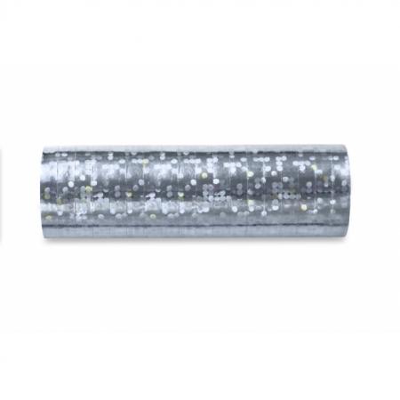 Luftschlange Silber Holo glänzend 5 Stück