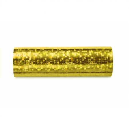 Luftschlange Gold Holo glänzend 5 Stück