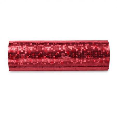 Luftschlange Rot Holo glänzend 5 Stück