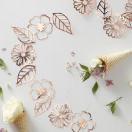 Girlande Roségold Blumengirlande Ditsy Floral