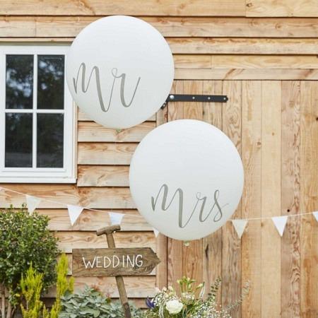 Riesenballon Hochzeit Mrs & Mr