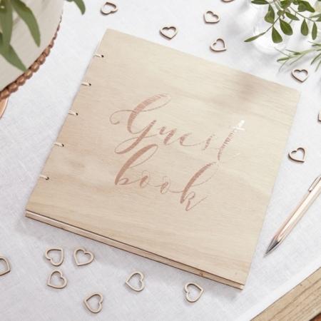 Gästebuch für die Hochzeit aus Holz