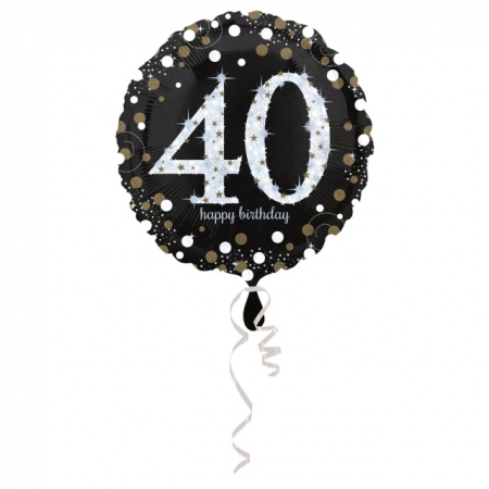 40. Geburtstag Geschenkballon Elegance