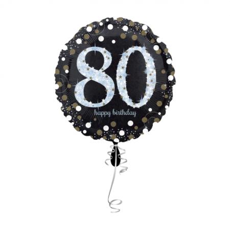 80. Geburtstag Geschenkballon Elegance