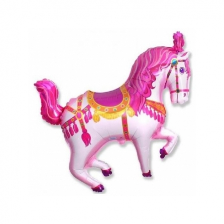Geschenkballon Zirkuspferd Pink - Jumboballon